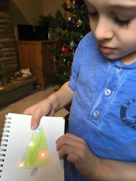 christmas tree paper circuit