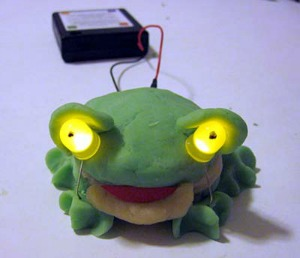 squishy-circuits-LED-frog