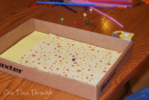Box Lid Maze Paper