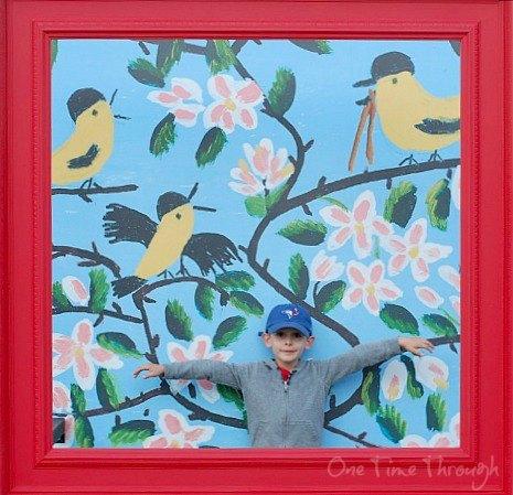 Boy in Bird Frame
