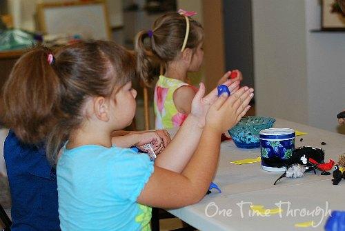 Kids Making Birds