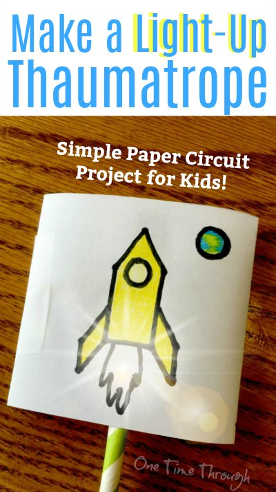 Light-Up Paper Circuit Thaumatrope blogPin