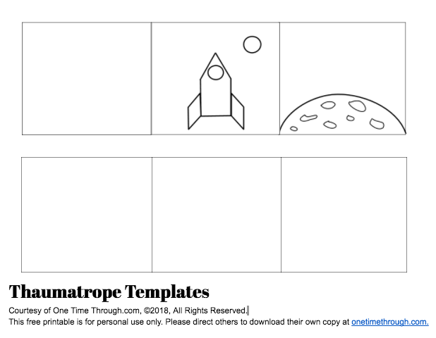 Thaumatrope Template Screenshot