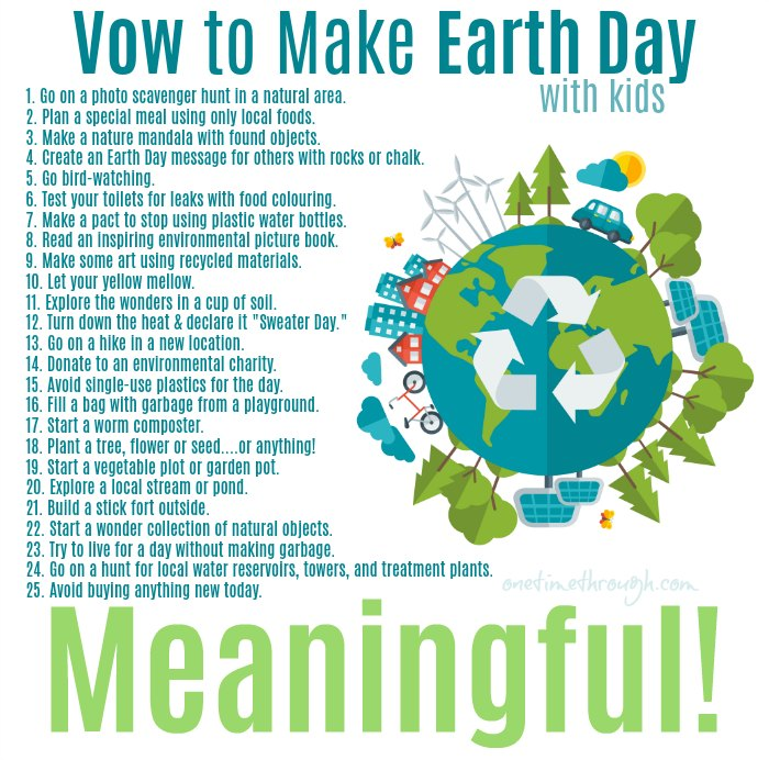 Make Earth Day Meaningful