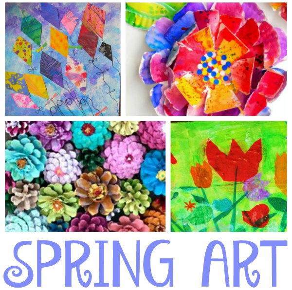 Stunning Spring Art Projects For Kids One Time Through