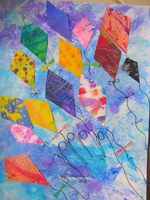 collage kites mary making