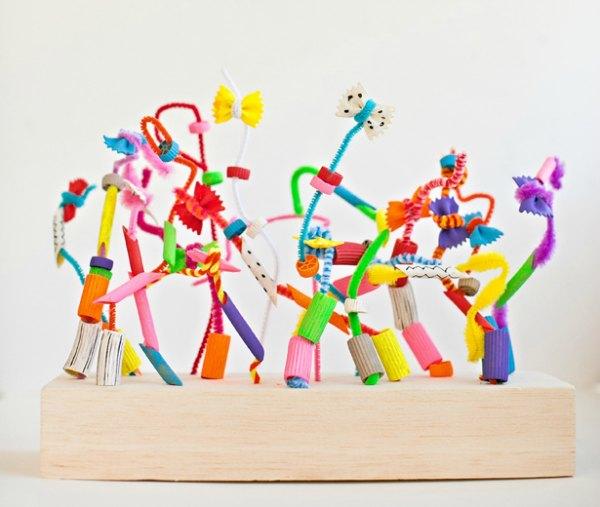 pasta-sculptures-kids