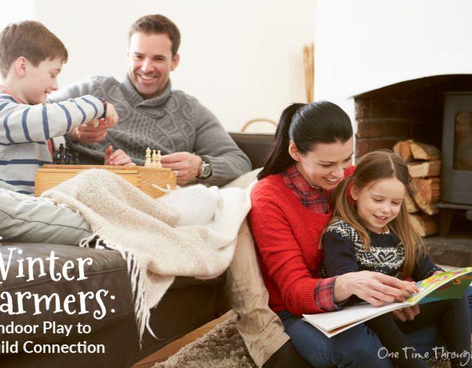 parents with kids indoors
