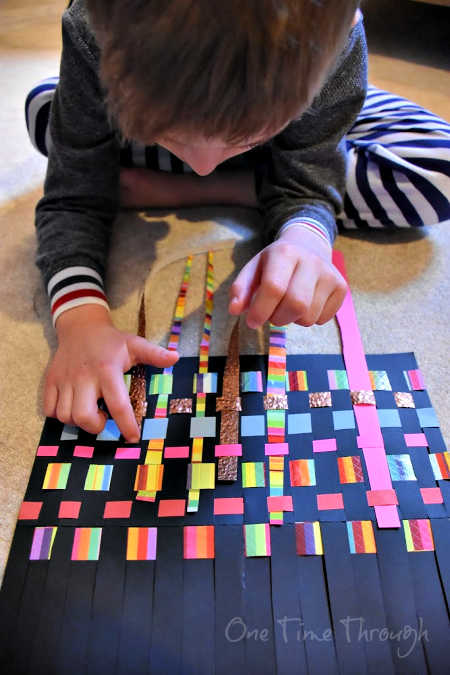 paper weaving adding extra strips