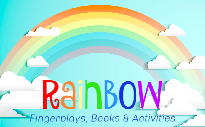 rainbow book list and rainbow fingerplays for young children